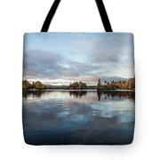 Sunrise On Fourth Lake Tote Bag