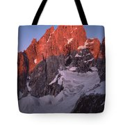 1m9380-sunrise On Grand Teton  Tote Bag