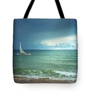 Sunrise On Indian Ocean Tote Bag