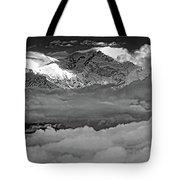 Sunrise On Kanchenjunga Bw Tote Bag
