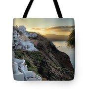 Sunrise On Santorini Tote Bag