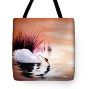Sunrise On Swan Lake Tote Bag