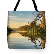 Sunrise On The Canal Tote Bag