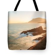 Sunrise On The Cantabrian Coast In Muskiz Tote Bag