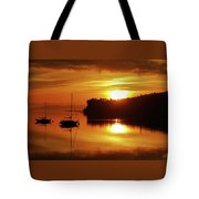 Sunrise On The Cove Tote Bag