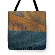 Sunrise On The Groomed Beach  Tote Bag