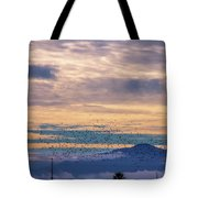 Sunrise On The Highway Tote Bag