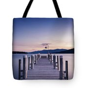 Sunrise On The Lake Tote Bag