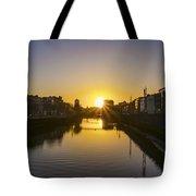 Sunrise On The Liffey River - Dublin Ireland Tote Bag
