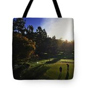 Sunrise On The Links Tote Bag