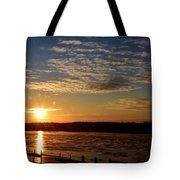 Sunrise On The Mississippi Tote Bag