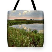Sunrise On The Nippersink Tote Bag