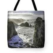 Sunrise On The Pacific Coast Tote Bag