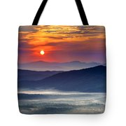 Sunrise On The Parkway. Tote Bag