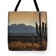 Sunrise On The Peaks Tote Bag