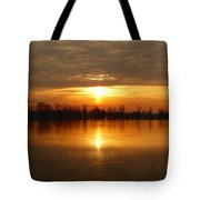 Sunrise On The Pecatonica River Tote Bag