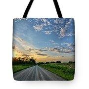 Sunrise On The Road Tote Bag