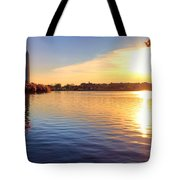 Sunrise On The Tidal Basin Tote Bag