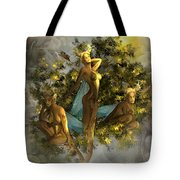 Sunrise On The Tree Pixies Tote Bag