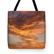 Sunrise Orange Sky, Willamette National Forest, Oregon Tote Bag