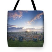 Sunrise Over Beaghmore Stone Circles Tote Bag
