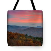 Sunrise Over Blue Ridge Parkway. Tote Bag