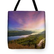 Sunrise Over Columbia River Gorge Tote Bag