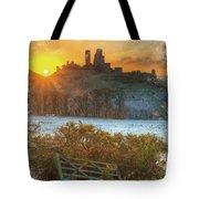 Sunrise Over Corfe Tote Bag