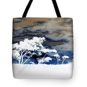 Sunrise Over Fort Salonga In Negative Tote Bag