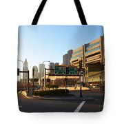 Sunrise Over Haymarket Station In Boston Tote Bag