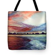 Sunrise Over Indian Lake Tote Bag