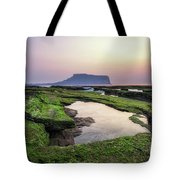 Sunrise Over Jeju Island Tote Bag
