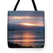 Sunrise Over Kachemak Bay Tote Bag