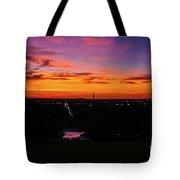 Sunrise Over Kennedy's Grave Arlington Cemetery Tote Bag