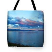 Sunrise Over Lake Yellowstone Tote Bag