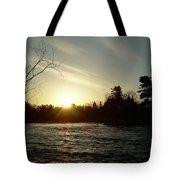 Sunrise Over Mississippi River Tote Bag