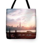 Sunrise Over Nyc Tote Bag