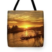 Sunrise Over  Payette River Tote Bag