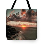 Sunrise Over The Beach Tote Bag