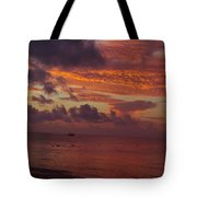 Sunrise Over The Caribean Tote Bag