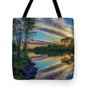 Sunrise Over The Champlain Canal Tote Bag