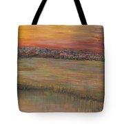 Sunrise Over The Marsh Part II Tote Bag