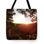 Sunrise Over The Mountain  Tote Bag
