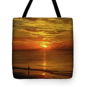 Sunrise Over The Ocean Tote Bag
