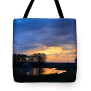Sunrise Over The Pond Tote Bag