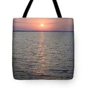 Sunrise Over The Sea Horizon Tote Bag