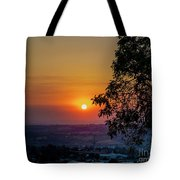Sunrise Over The Valley Tote Bag