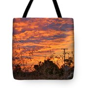 Sunrise Over The Wheat Fields Tote Bag