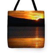 Sunrise Over Yellowstone Lake Tote Bag