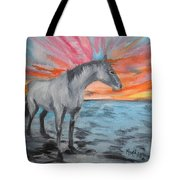 Sunrise Pony Tote Bag